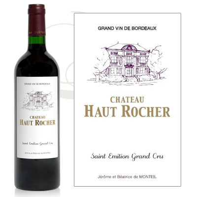 Chateau Haut Rocher label & bottle