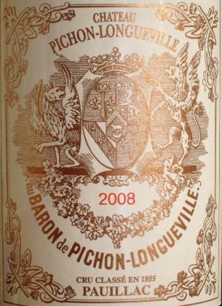 Chateau Pichon Longueville Baron 2008_Label