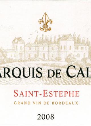 Marquis de Calon 2008_Label
