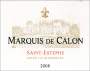 Marquis de Calon 2008_Label