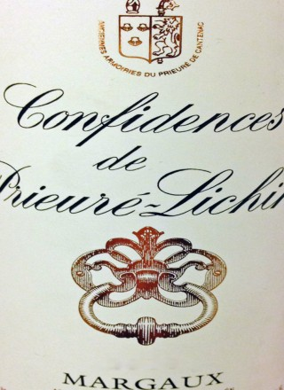 Confidences de Prieure Lichine_Label